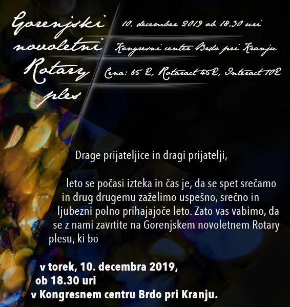Gorenjski novoletni Rotary ples